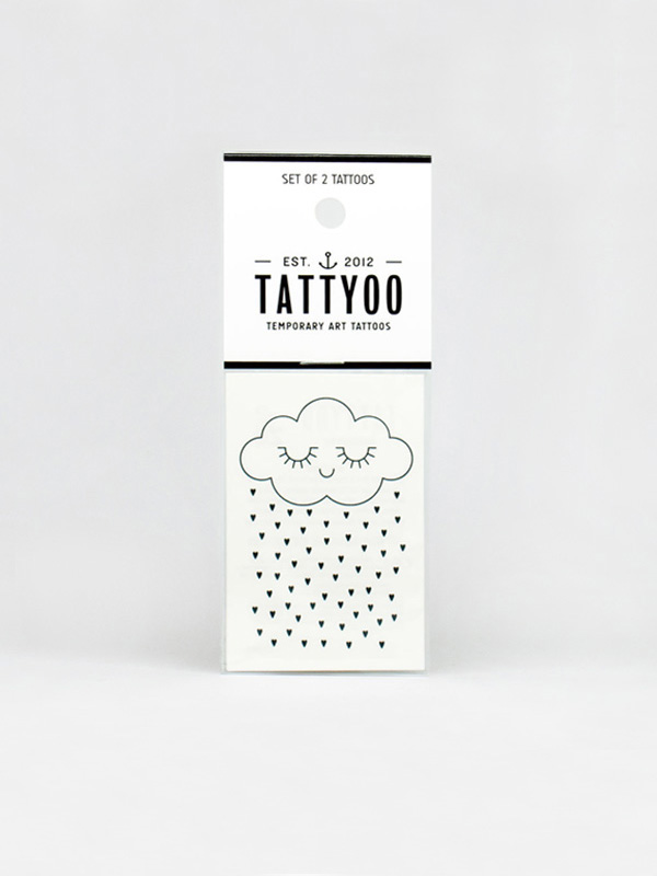 Tattyoo Tenderness Cloud Temporary Tattoo