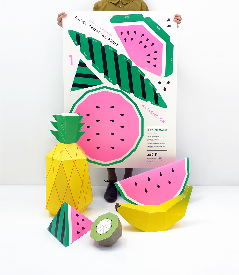 Giant Tropical Fruit Posters