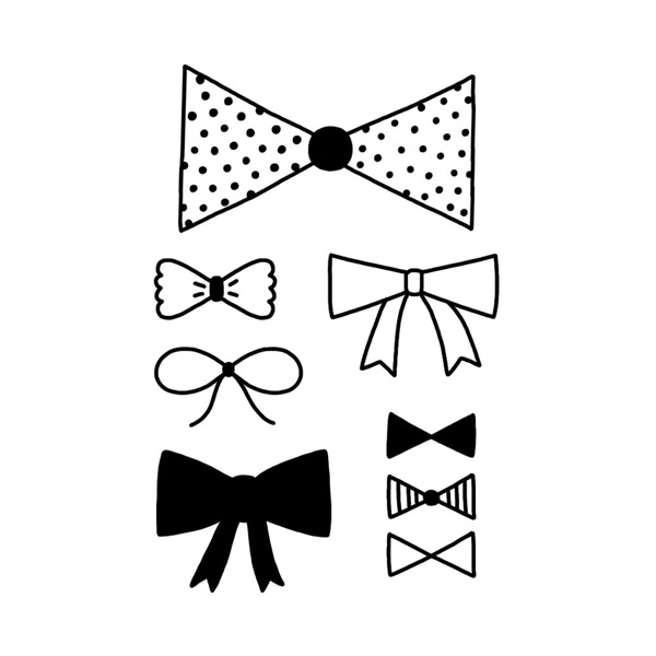 Tattyoo Bow Ties Temporary Tattoo