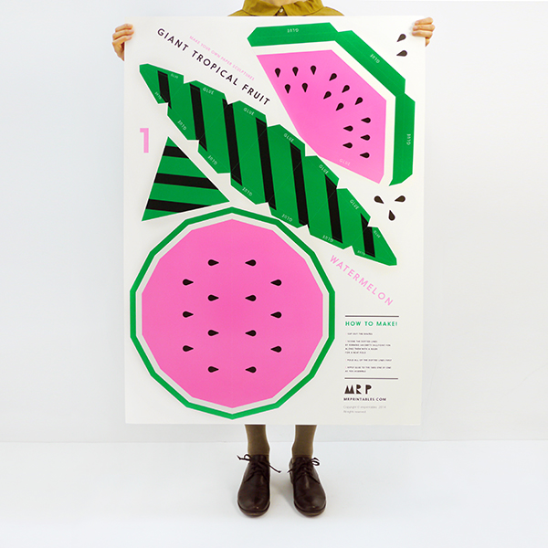 Giant Tropical Fruit Paper Sculpture Kit