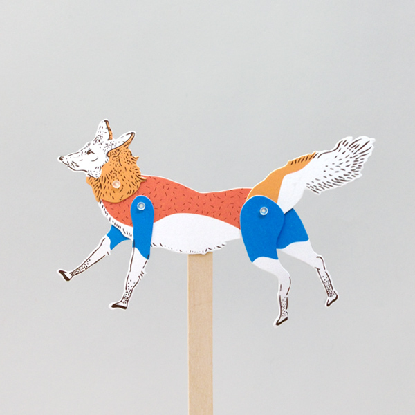 Fox Paper Puppet Kit