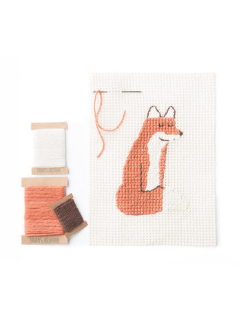 Fox Needlepoint Set by Fanny & Alexander