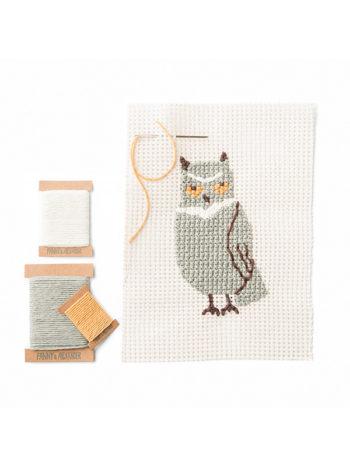 Owl Needlepoint Set by Fanny & Alexander