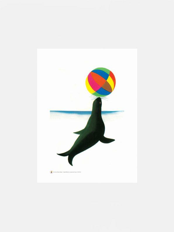 Bruno Munari Circus Seal Poster