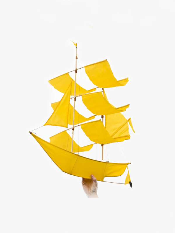 Sailing Ship Kite Canary