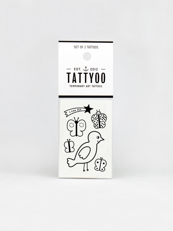 Tattyoo I Can Fly Temporary Tattoo