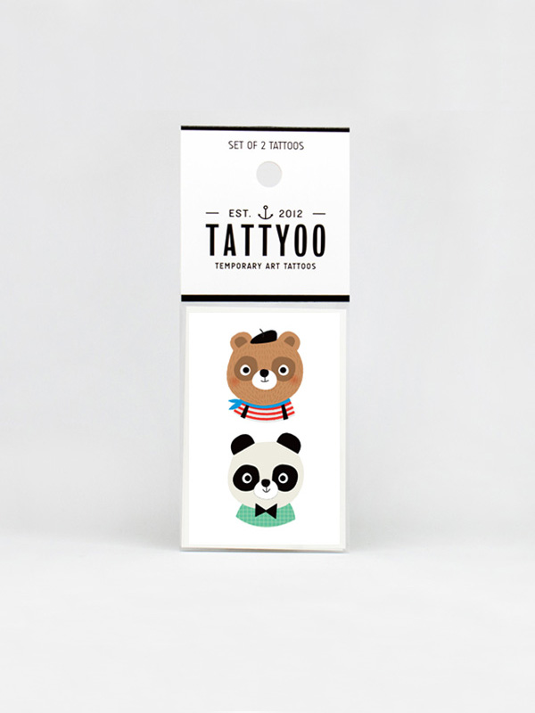 Tattyoo Marcel & Paul Temporary Tattoo