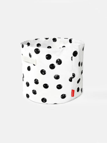 Deuz Storage Basket Black Spot