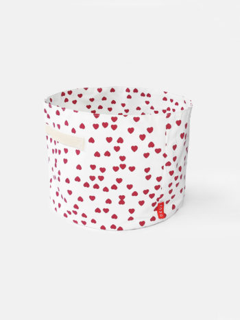 Deuz Storage Basket Red Heart