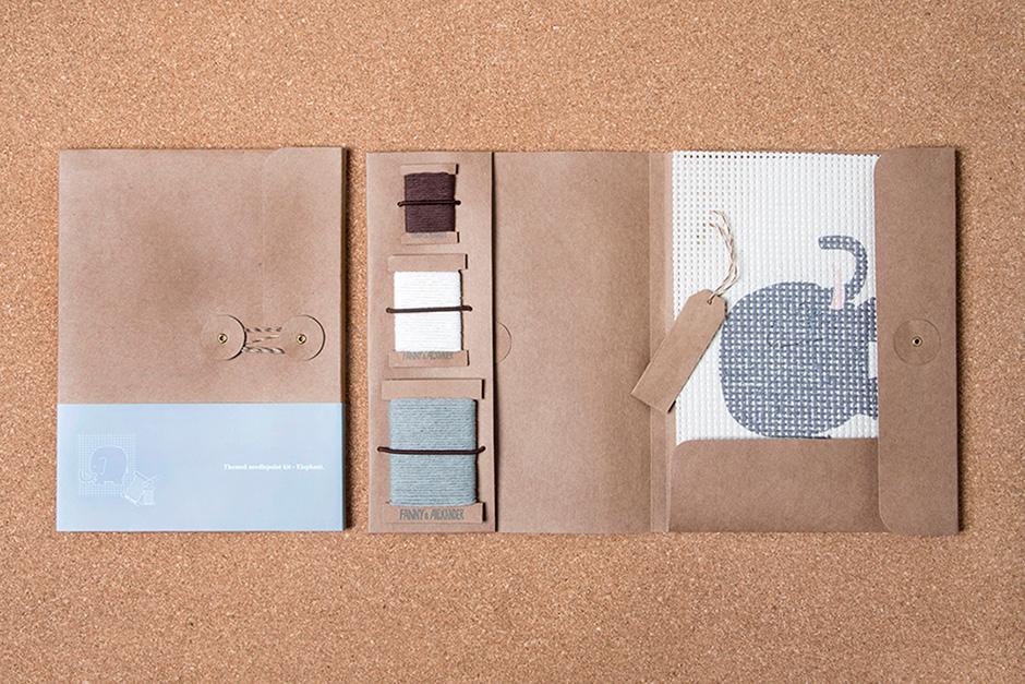 Fanny & Alexander Themed Needlepoint Kit - Elephant