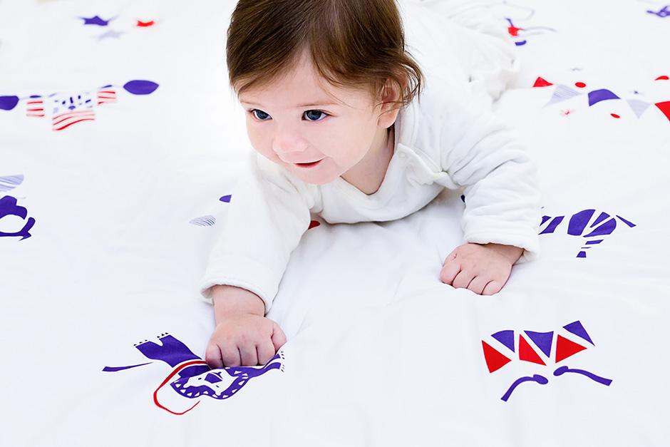 Deuz Organic Cotton Baby Mat - Circus