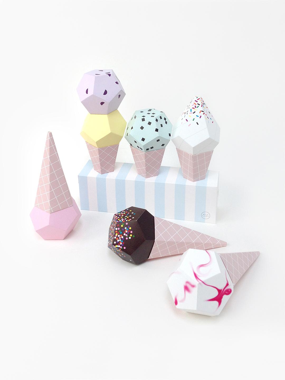Paper Ice Creams