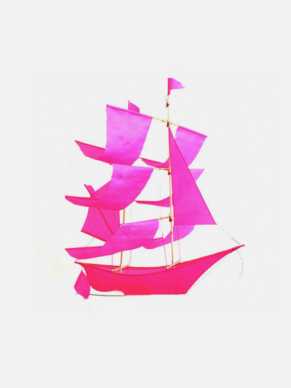 Sailing Ship Kite Pink