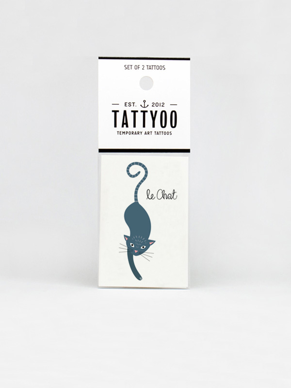 Le Chat Temporary Tattoo