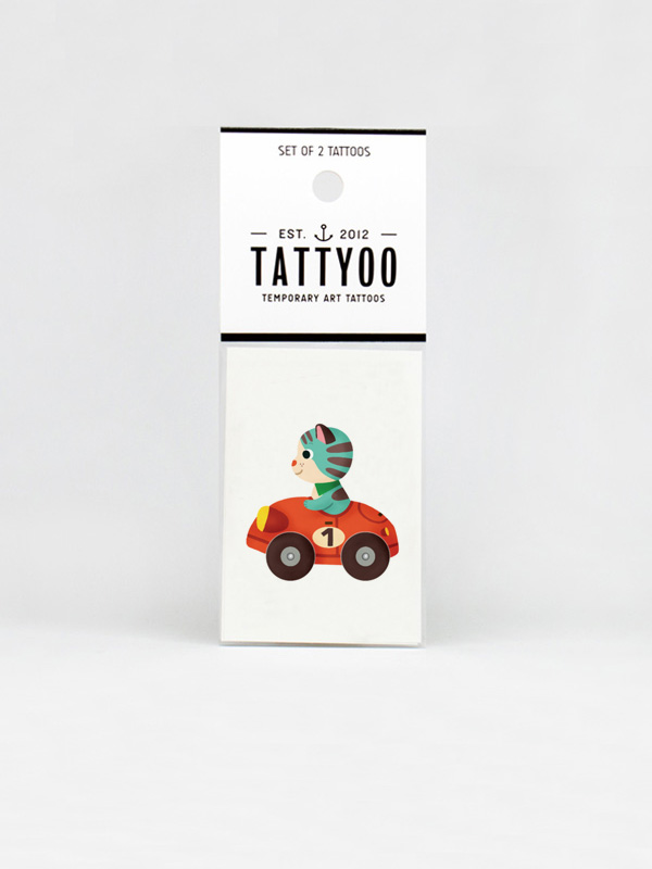Marcelo Cat Temporary Tattoo
