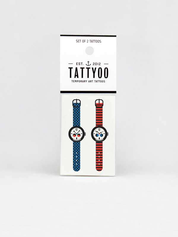 Strange Watch Temporary Tattoo