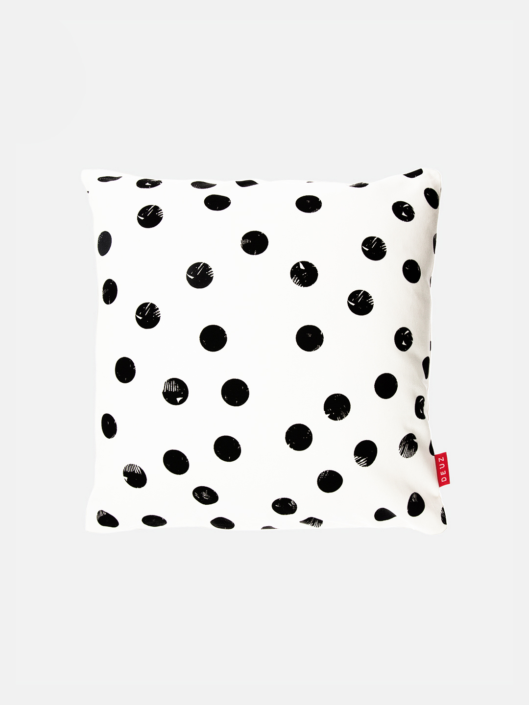 Organic Cotton Cushion - Black Dots