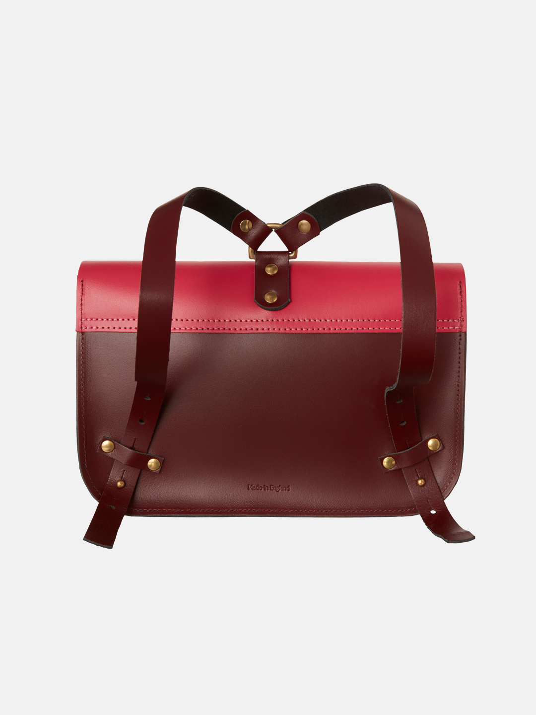 Ellison Satchel - Wine Gum Red & Bright Pink