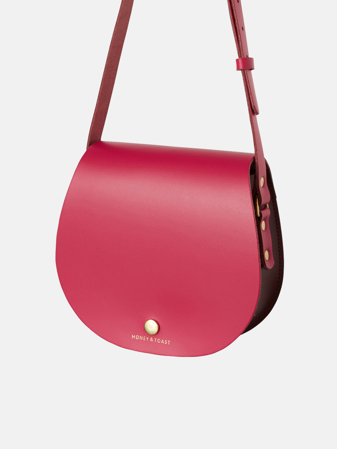 Etter Saddlebag - Wine Gum Red & Bright Pink