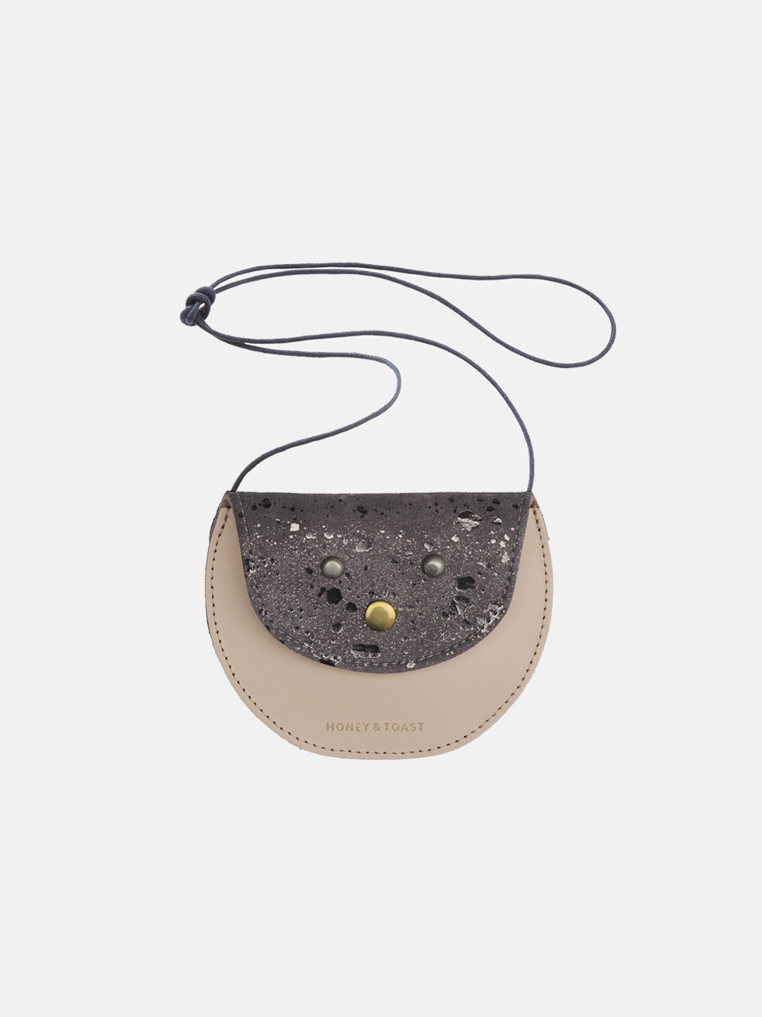 Pippin Purse - Dark Silver & Nude