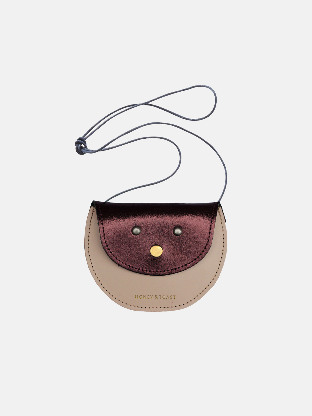 Pippin Purse - Metallic Plum & Nude