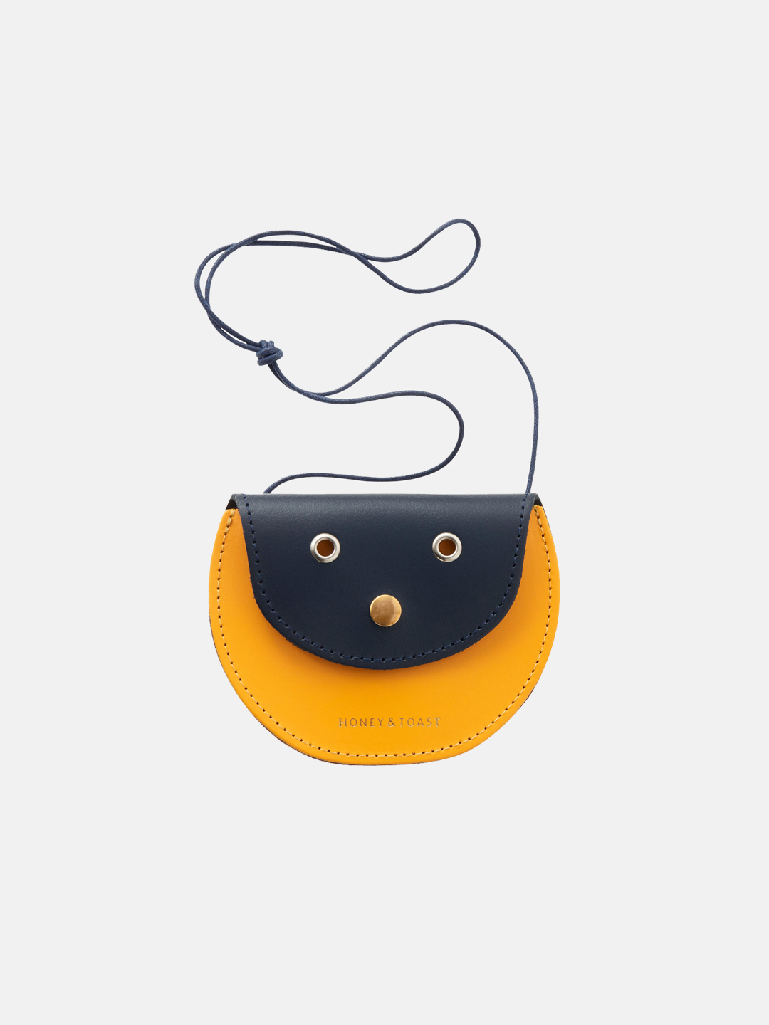 Pippin Purse - Navy Blue & Sun Yellow