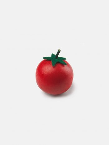 Realistic play food for toddlers – wooden vegetable Tomato for play kitchen, eco-friendly and safe, made in Germany by Erzi.