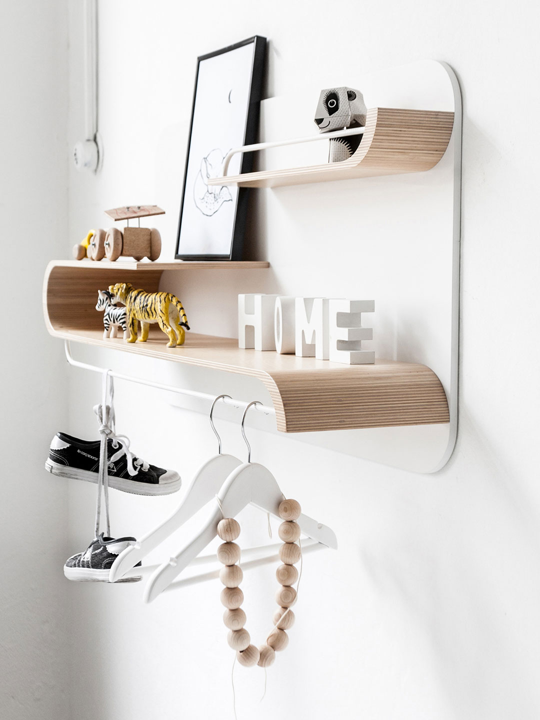 L Shelf - Natural / White