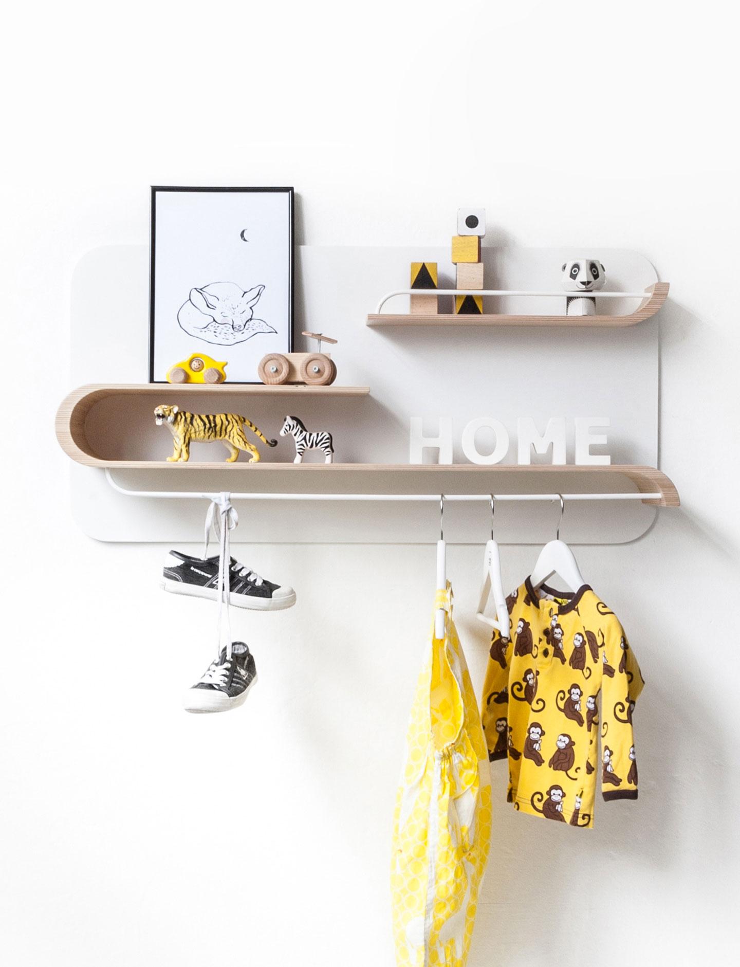 L Shelf - Natural / White