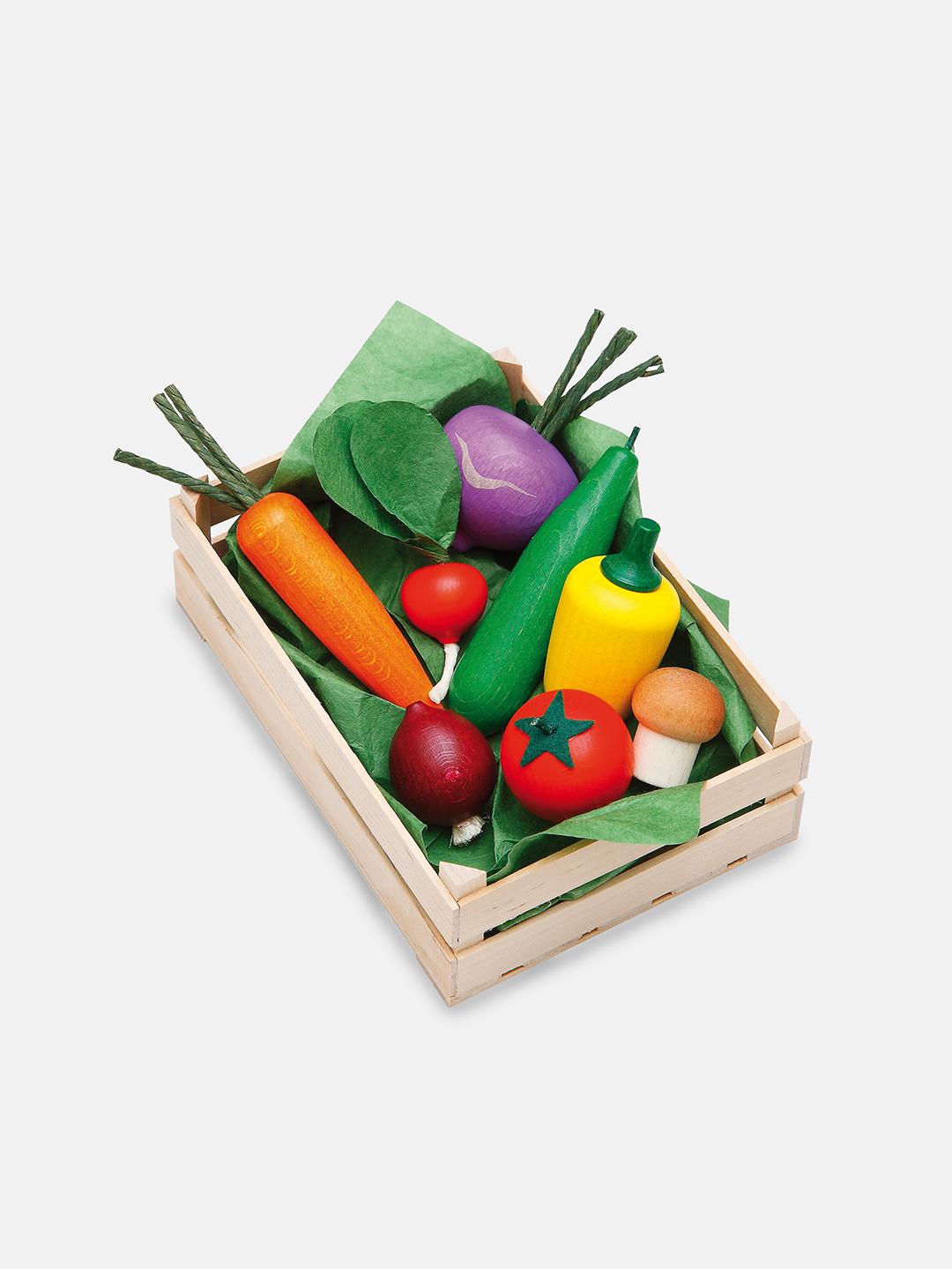 Wooden Vegetables Play Food Set