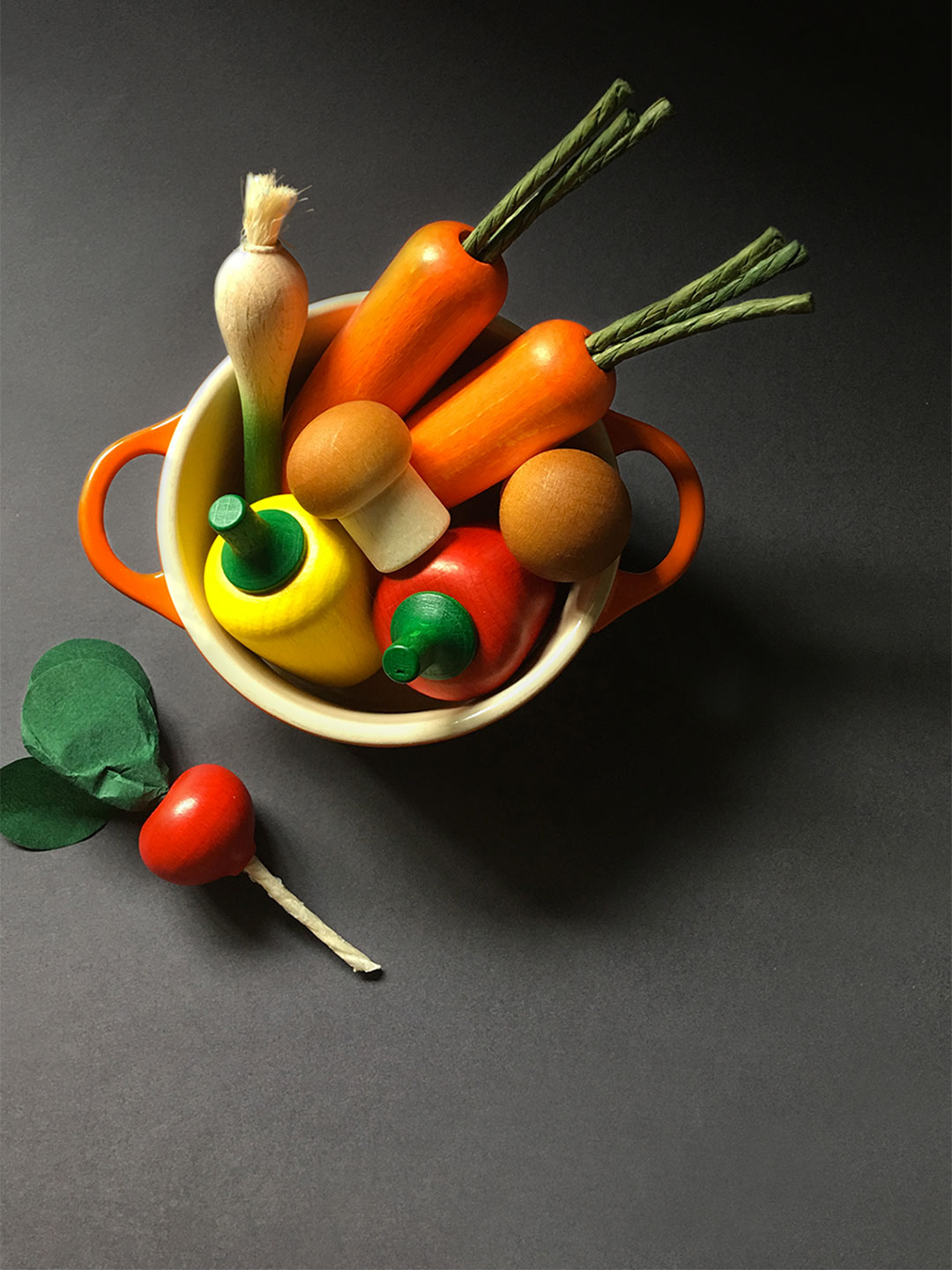 Wooden Vegetables Play Food Set