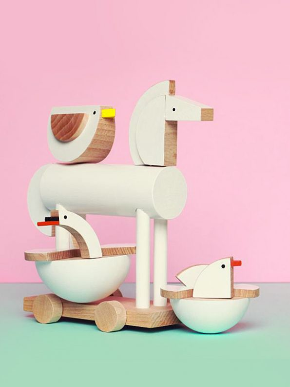 Ortus The Wooden Horse by Kutulu - contemporary Czech design animal wooden toy