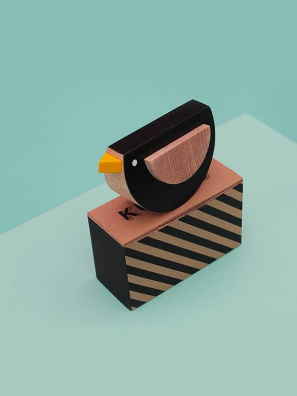 Kos The Wooden Bird by Kutulu - contemporary czech design wooden toy