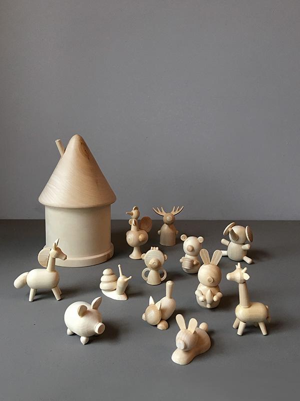 Wooden Baby Animals