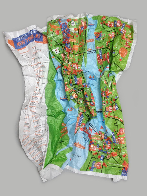 Crumpled City Junior New York Map