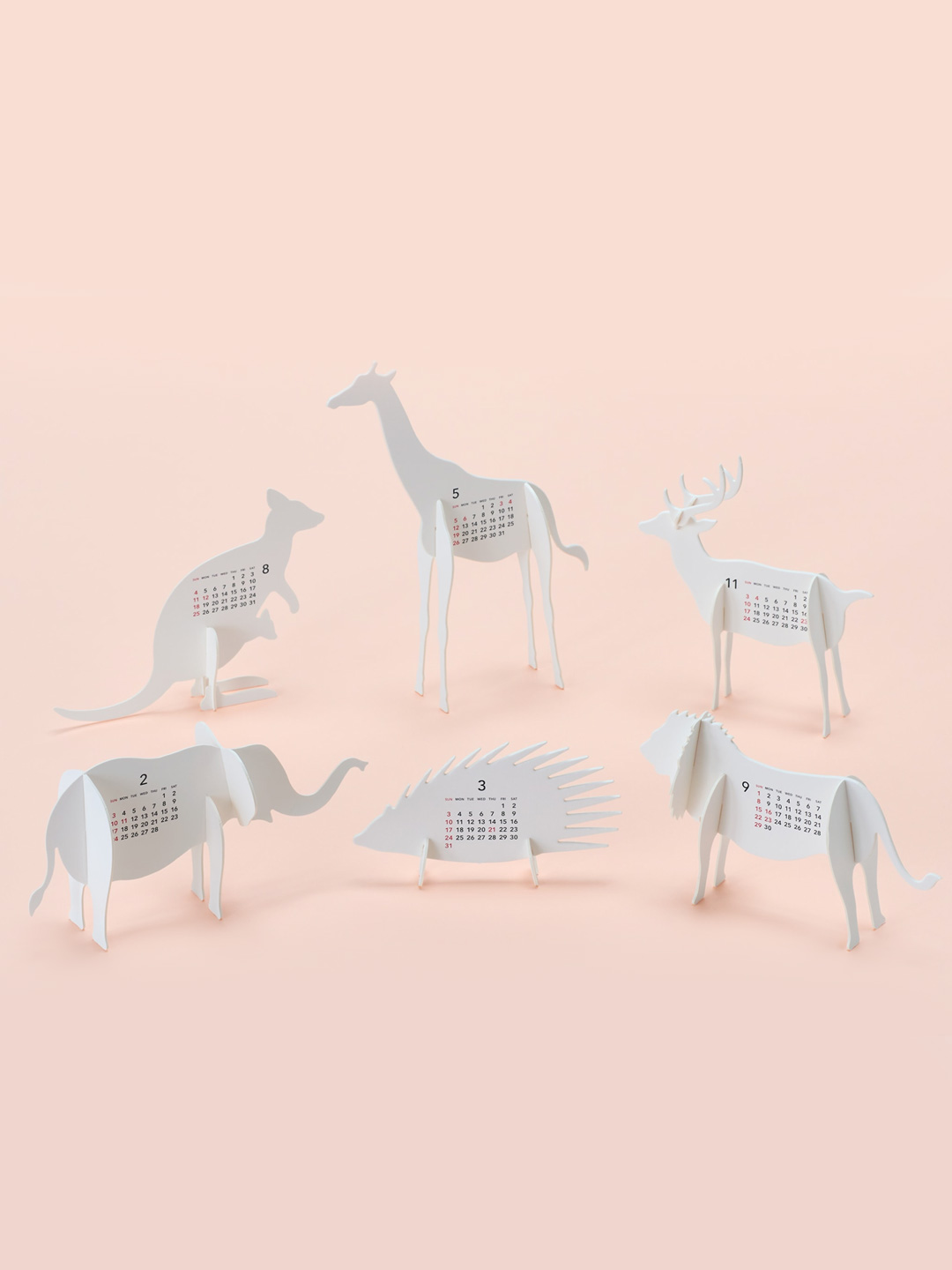 Zoo 2019 Calendar Paper Craft Kit