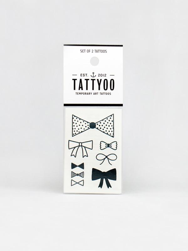 Tattyoo Bow Ties Temporary Tattoo