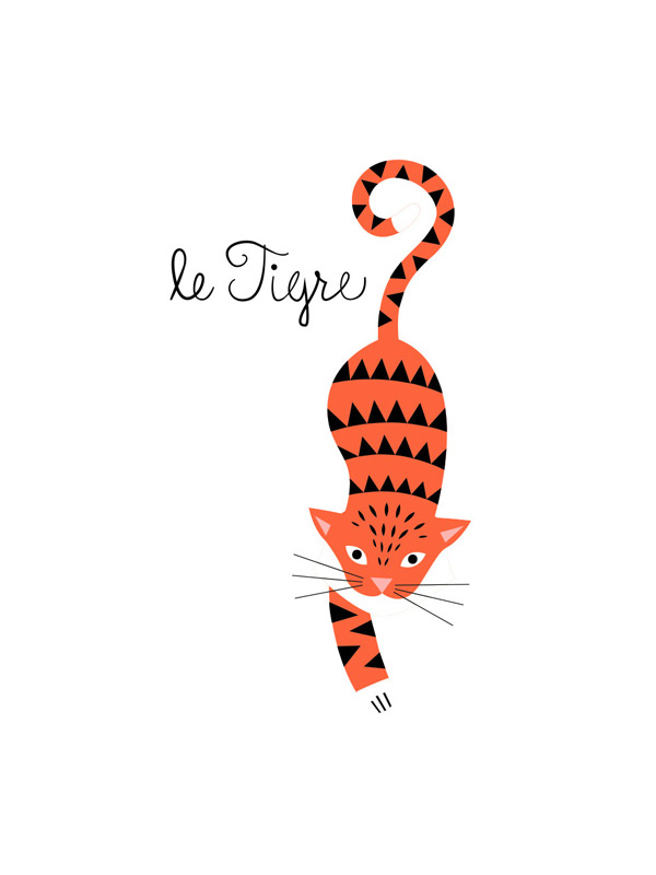 Tattyoo Le Tigre Temporary Tattoo