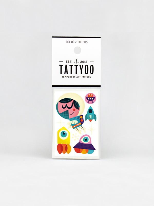 Tattyoo Space Temporary Tattoo