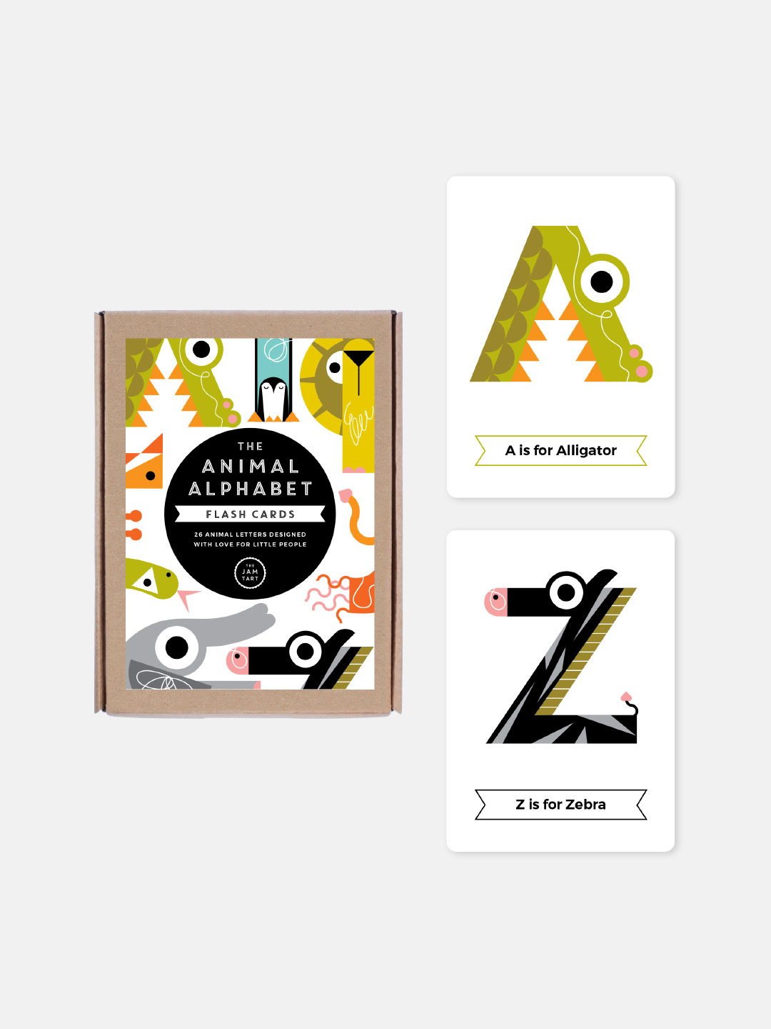 Animal Alphabet Flash Cards - Color