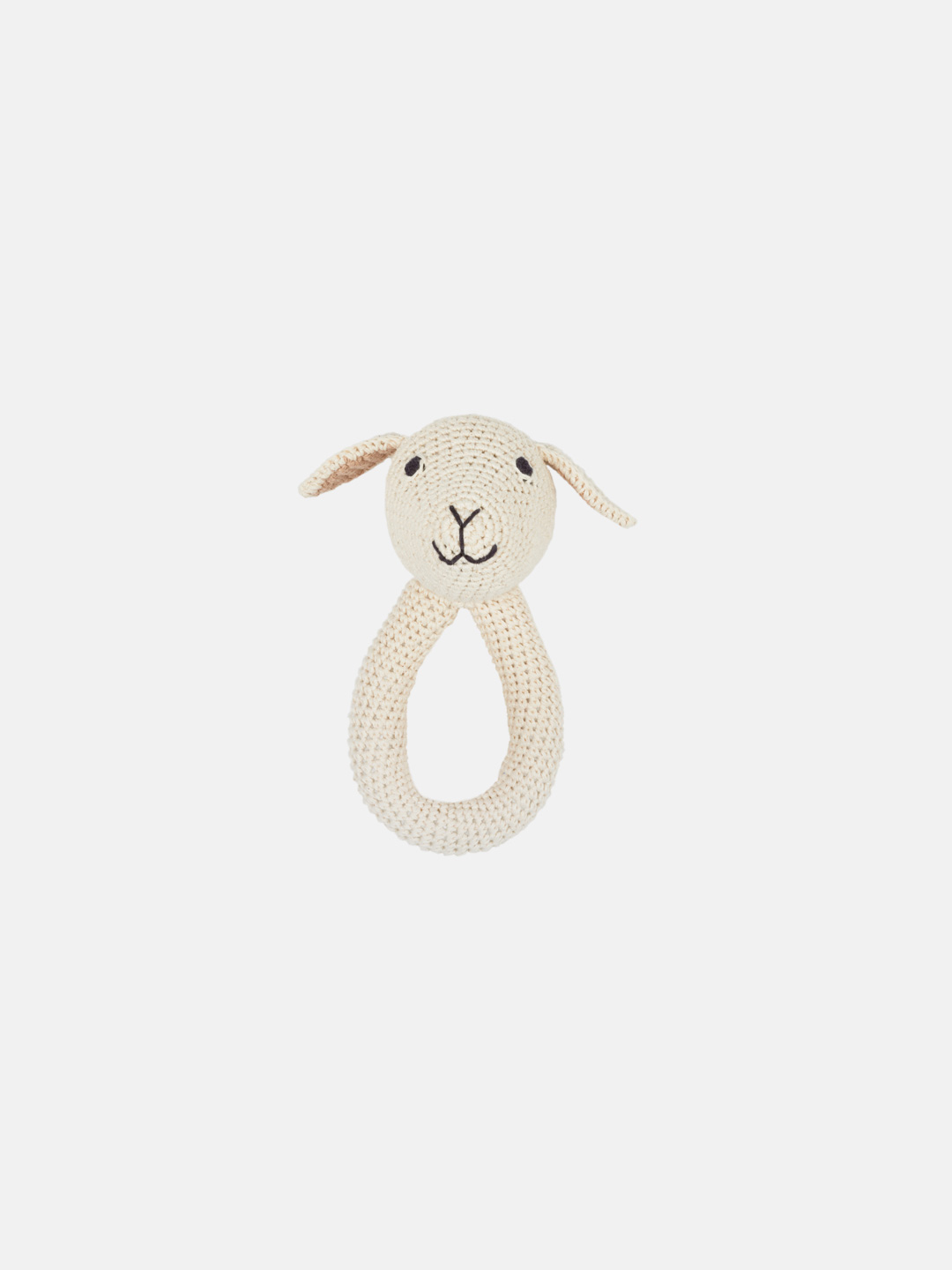 Crochet Lamb Ring Baby Rattle