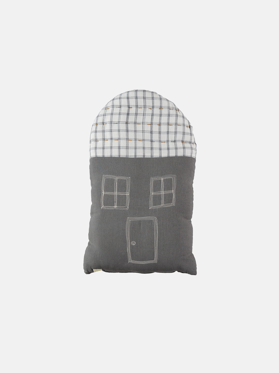Midi House Cushion - Slate & Ivory
