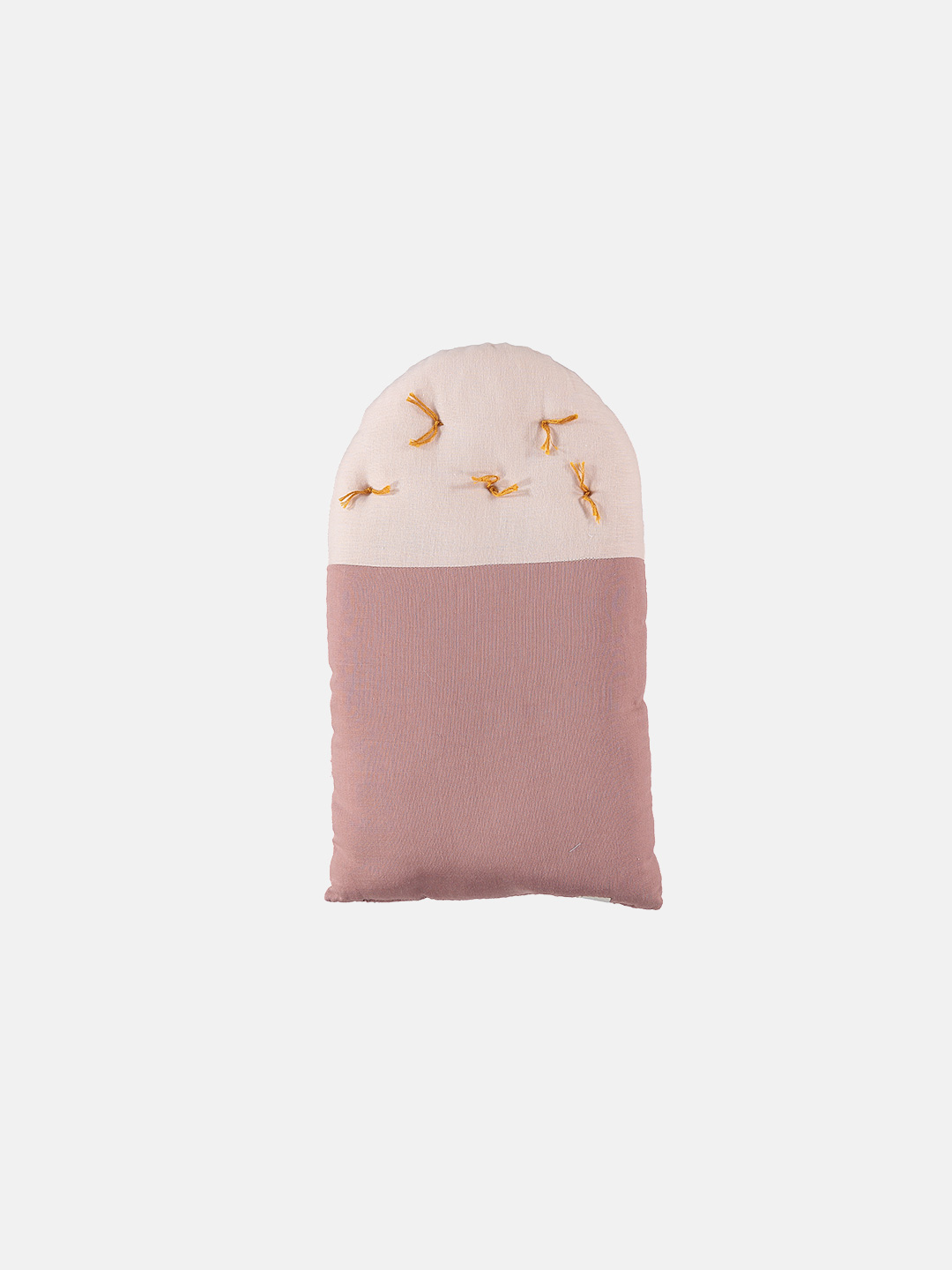 Small House Cushion - Blush & Pearl Pink