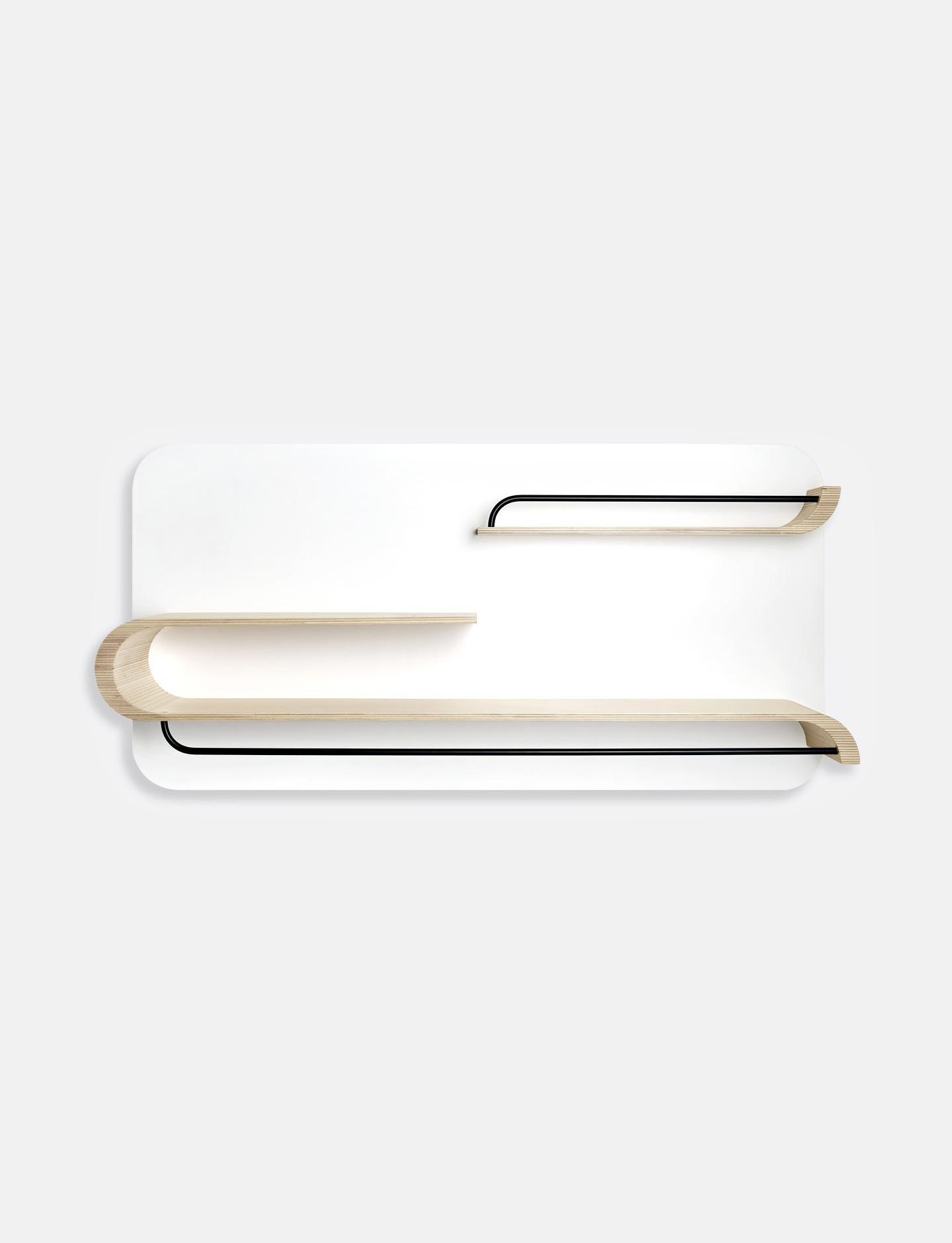 L Shelf - White / Black