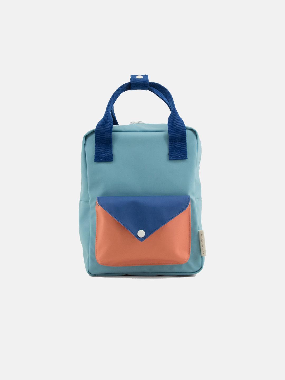 Small Backpack  - Envelope Denim Blue