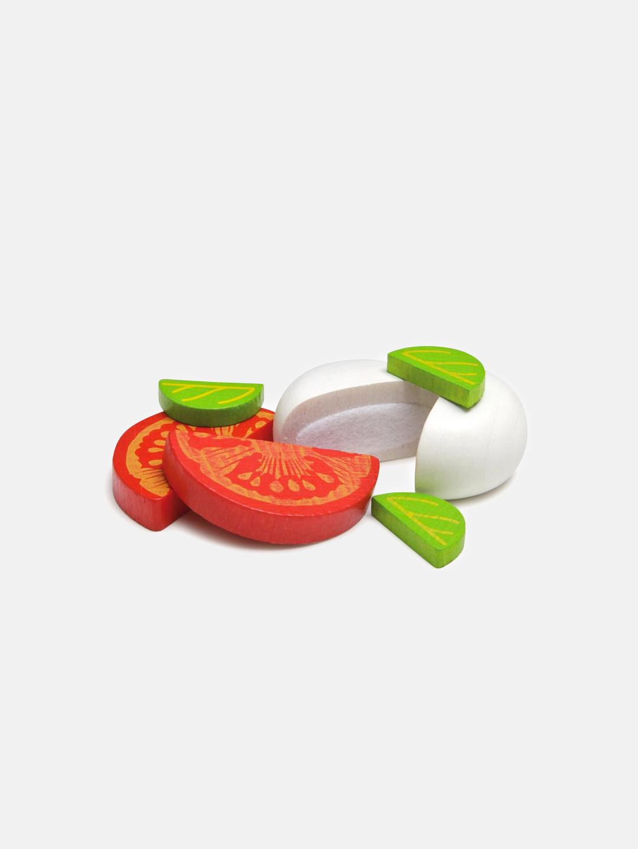 Wooden Food - Mozzarella and Tomato in a Tin