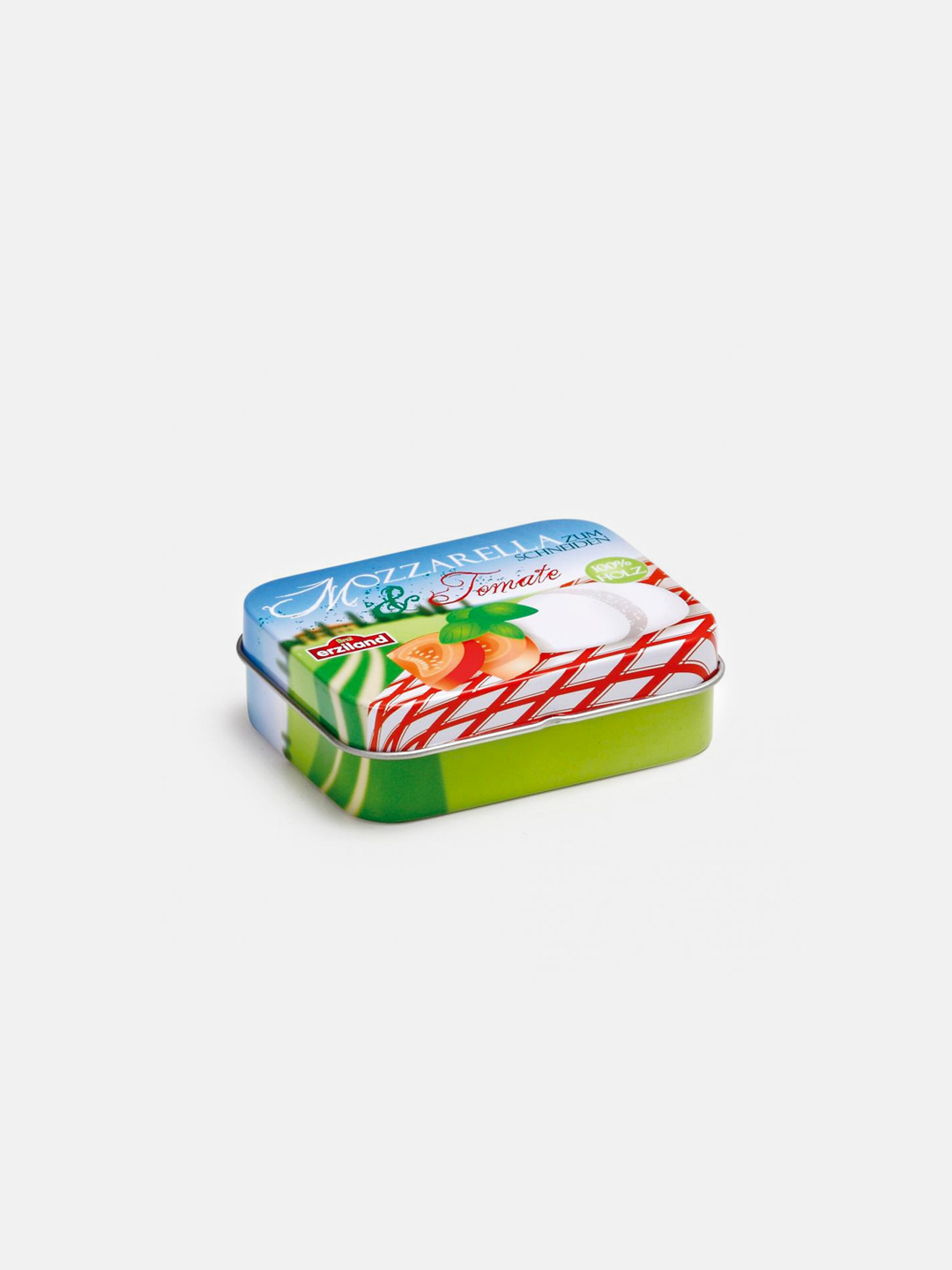 Wooden Food - Mozzarella and Tomato in a Tin