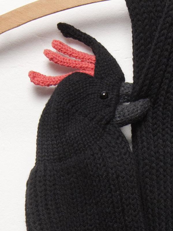 Black Cockatoo Merino Scarf