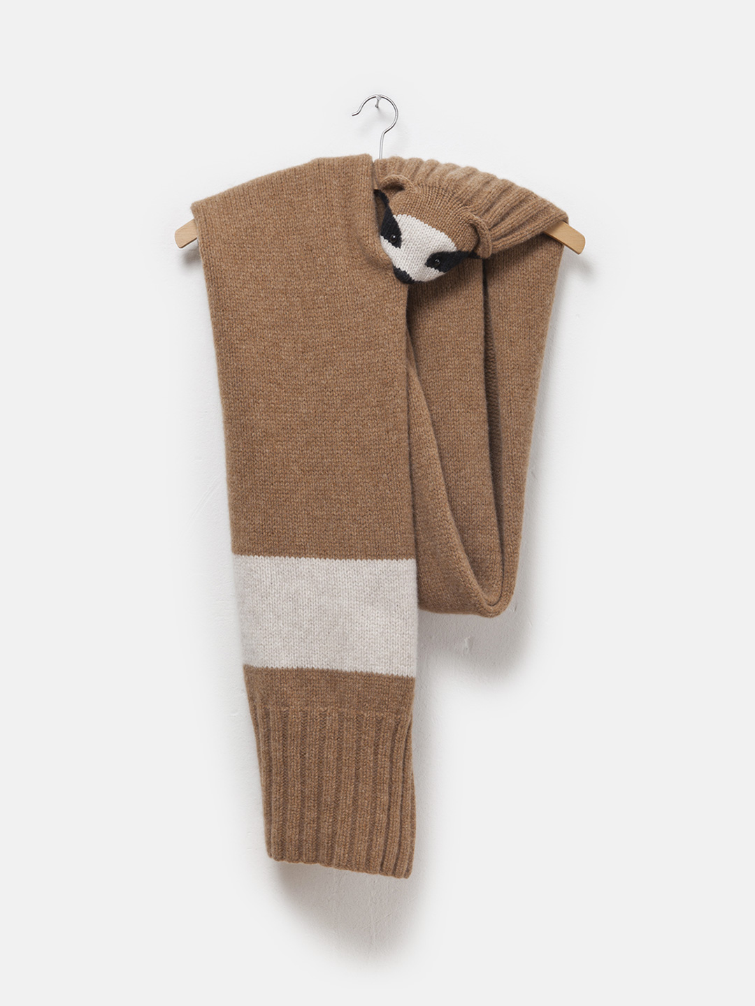 Brown Sloth Lambswool Stole