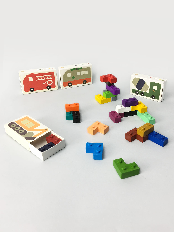 Pocket Crayon Blocks - Cars
